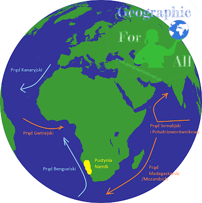 Prądy morskie wokół Afryki iPustynia Namib