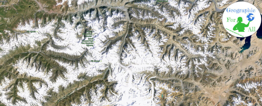 Fedczenki Glacier 2 (Google Earth) с логотипом