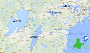 Jeziora Szwecji - Wener, Wetter, Melar