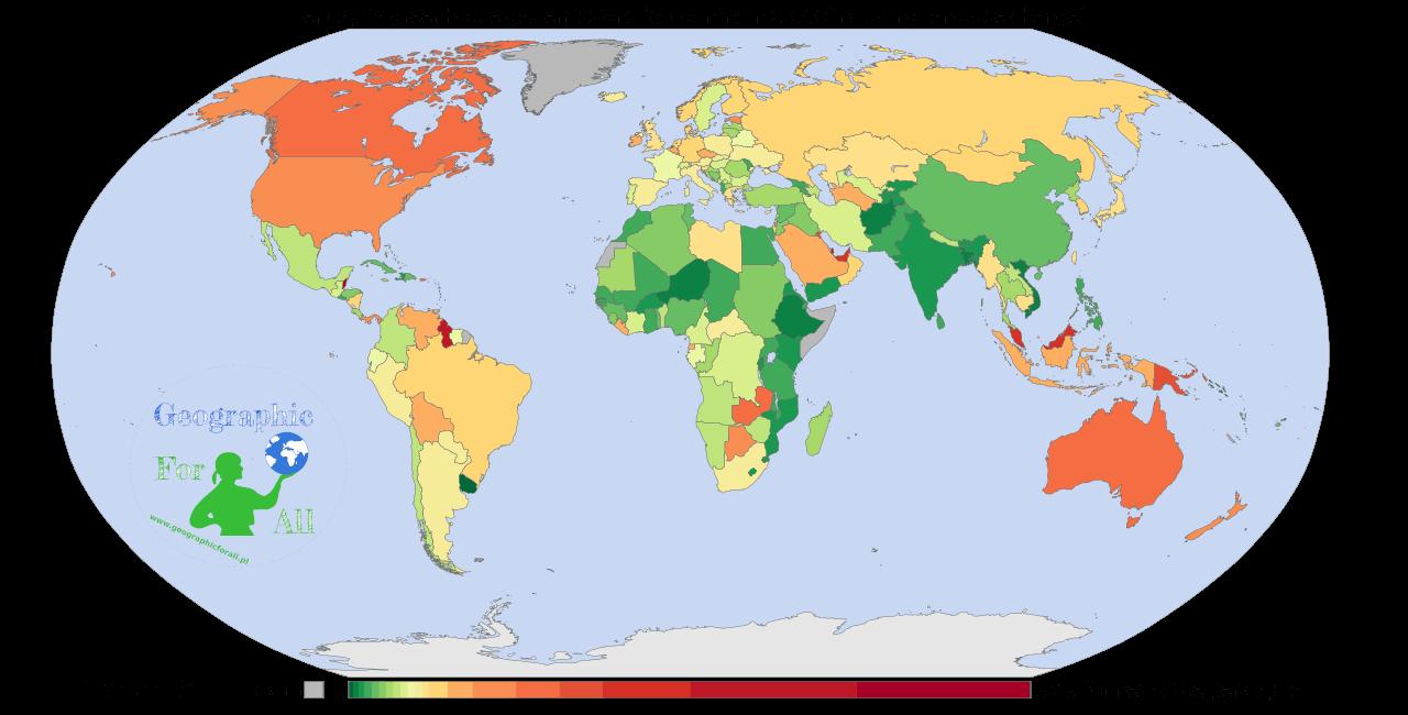 Emisja gazów cieplarnianych naosobę w2000 roku autor: Vinny_Burgoo