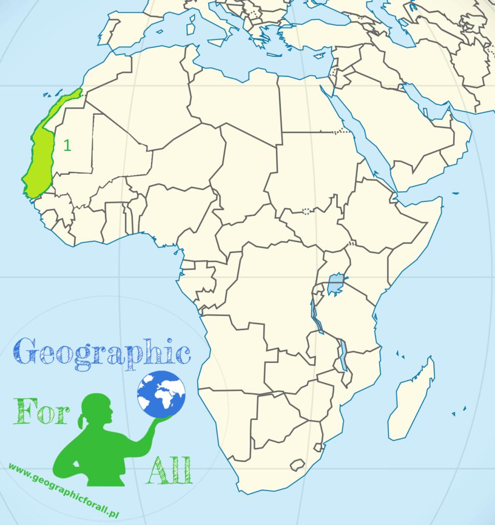 Niziny Afryki mapa konturowa