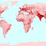 rozwój ludności świata, gęstość zaludnienia wg państw