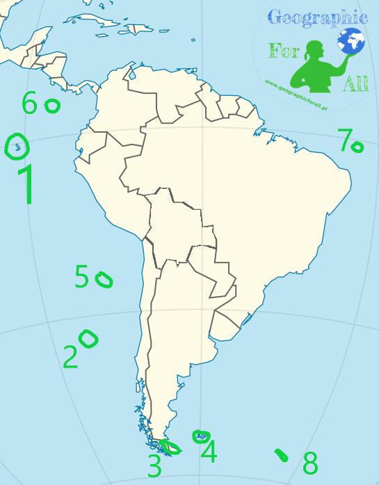 Mapa fizyczna świata - wyspy część 2: Afryka, Australia iAmeryki