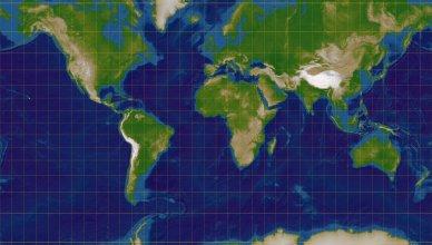 Rodzaje odwzorowań kartograficznych Odwzorowanie Merkatora walcowe wiernokątne Von Lars H. Rohwedder (User:RokerHRO) - Eigenes Werk, CC BY-SA 3.0, https://commons.wikimedia.org/w/index.php?curid=1073724