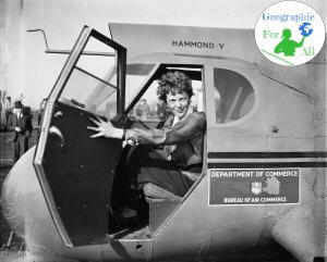 Amelia Earhart w1936 roku ByHarris & Ewing