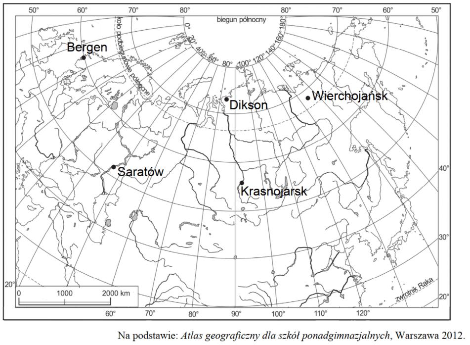 matura zgeografii 2018 zadanie 4 mapa