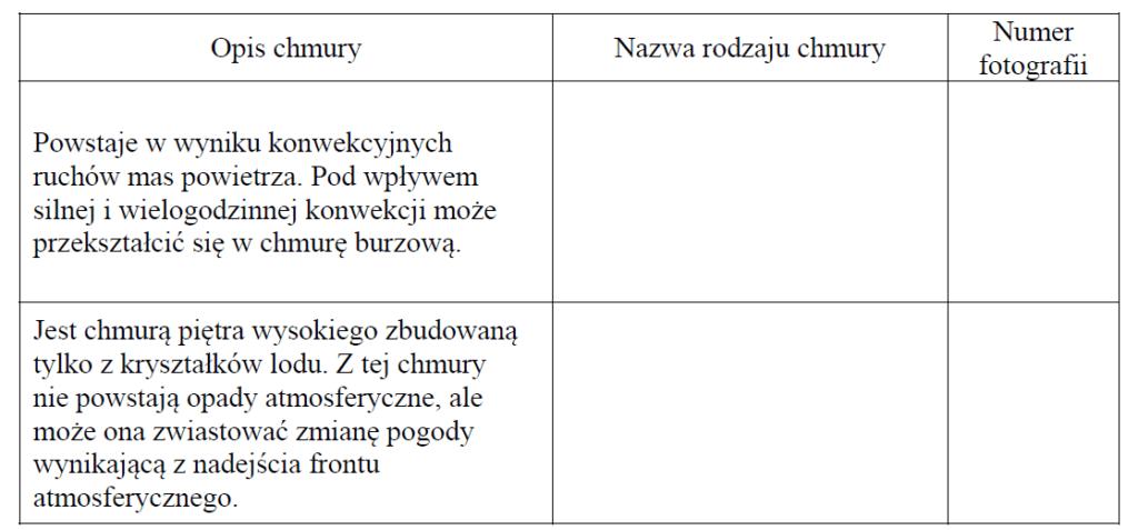 matura zgeografii 2019 zadanie 4 tabelka