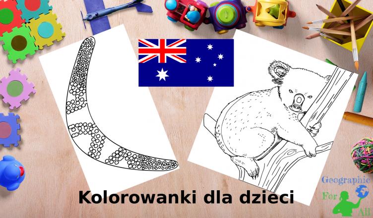 Australia kolorowanki dla dzieci