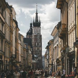 centrum miasta Krakowa