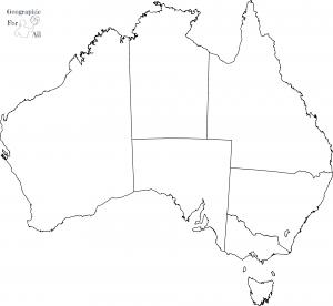 mapa konturowa australii kolorowanki dla dzieci