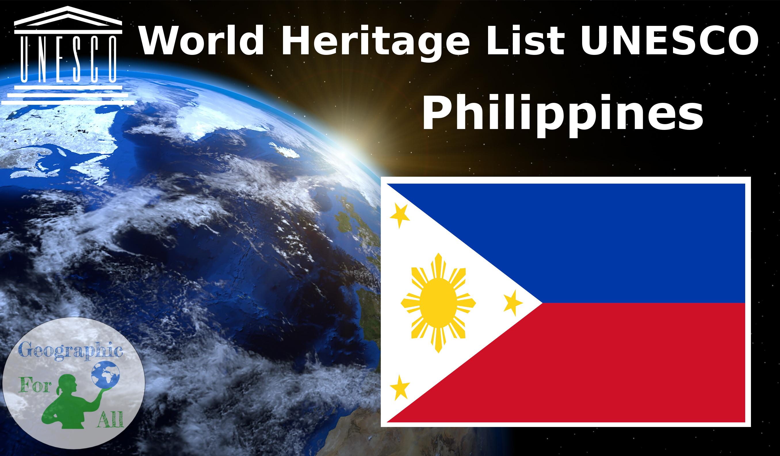 World Heritage List UNESCO - Philippines
