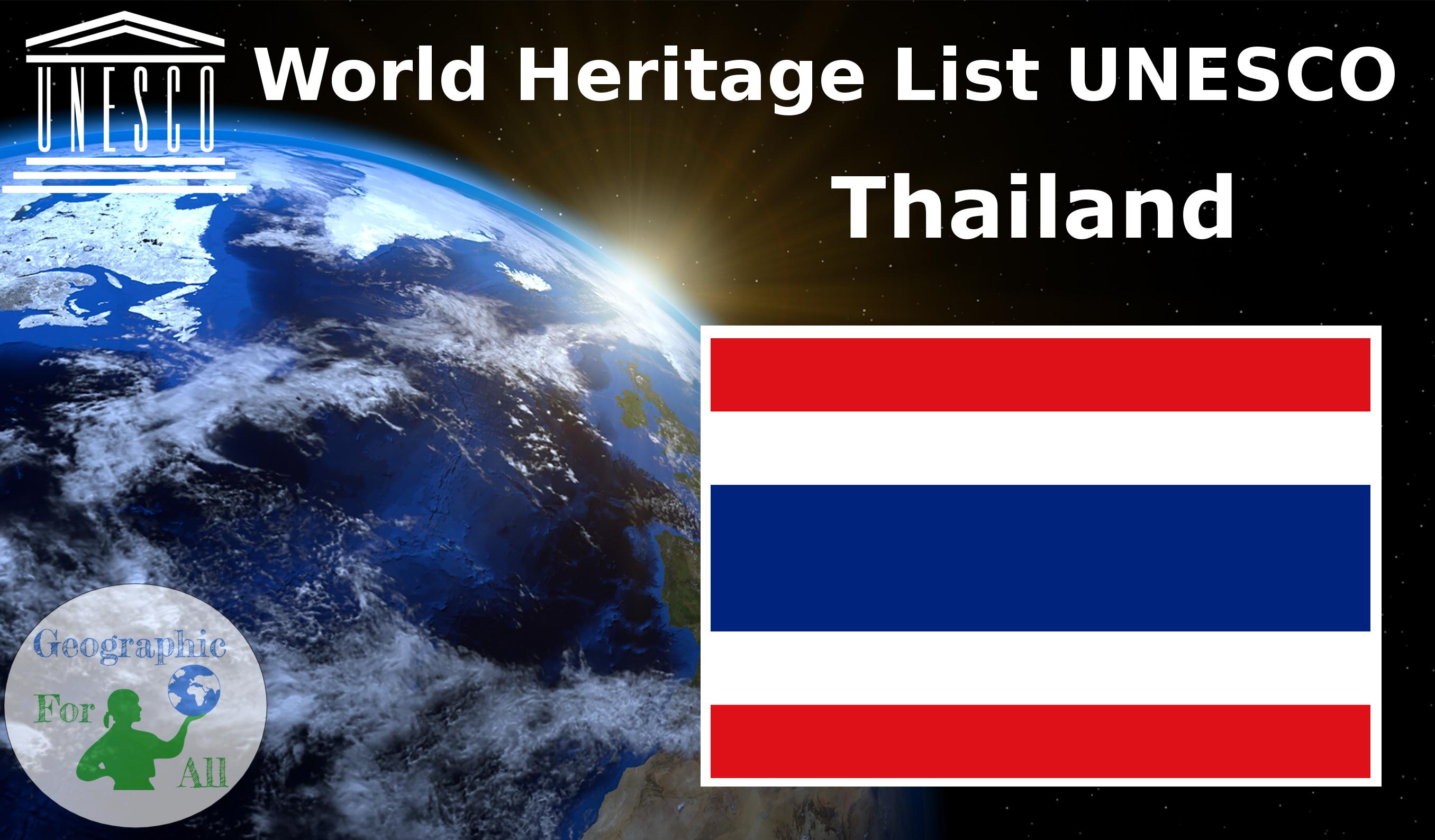 World Heritage List UNESCO - Thailand