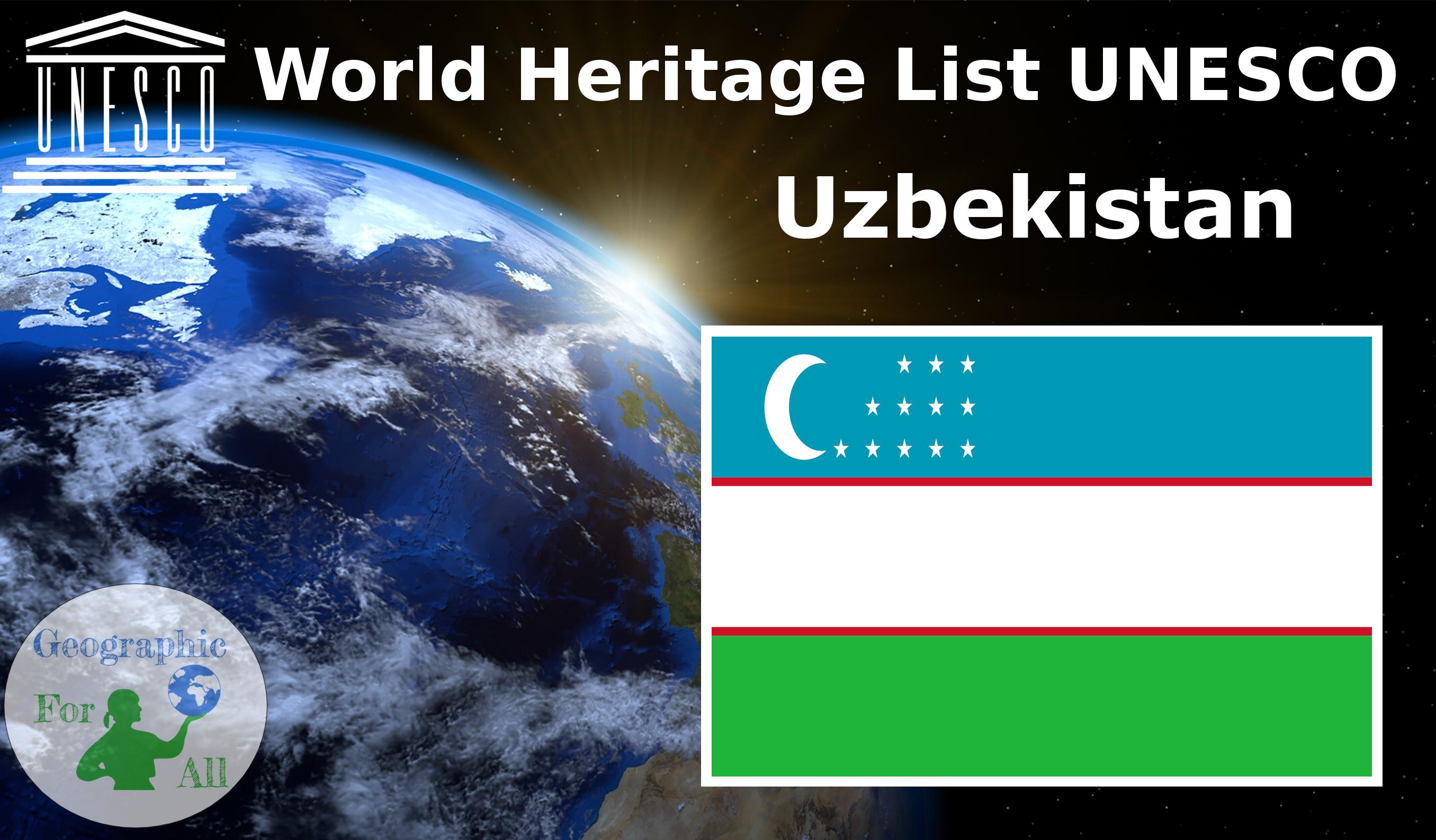 World Heritage List UNESCO - Uzbekistan