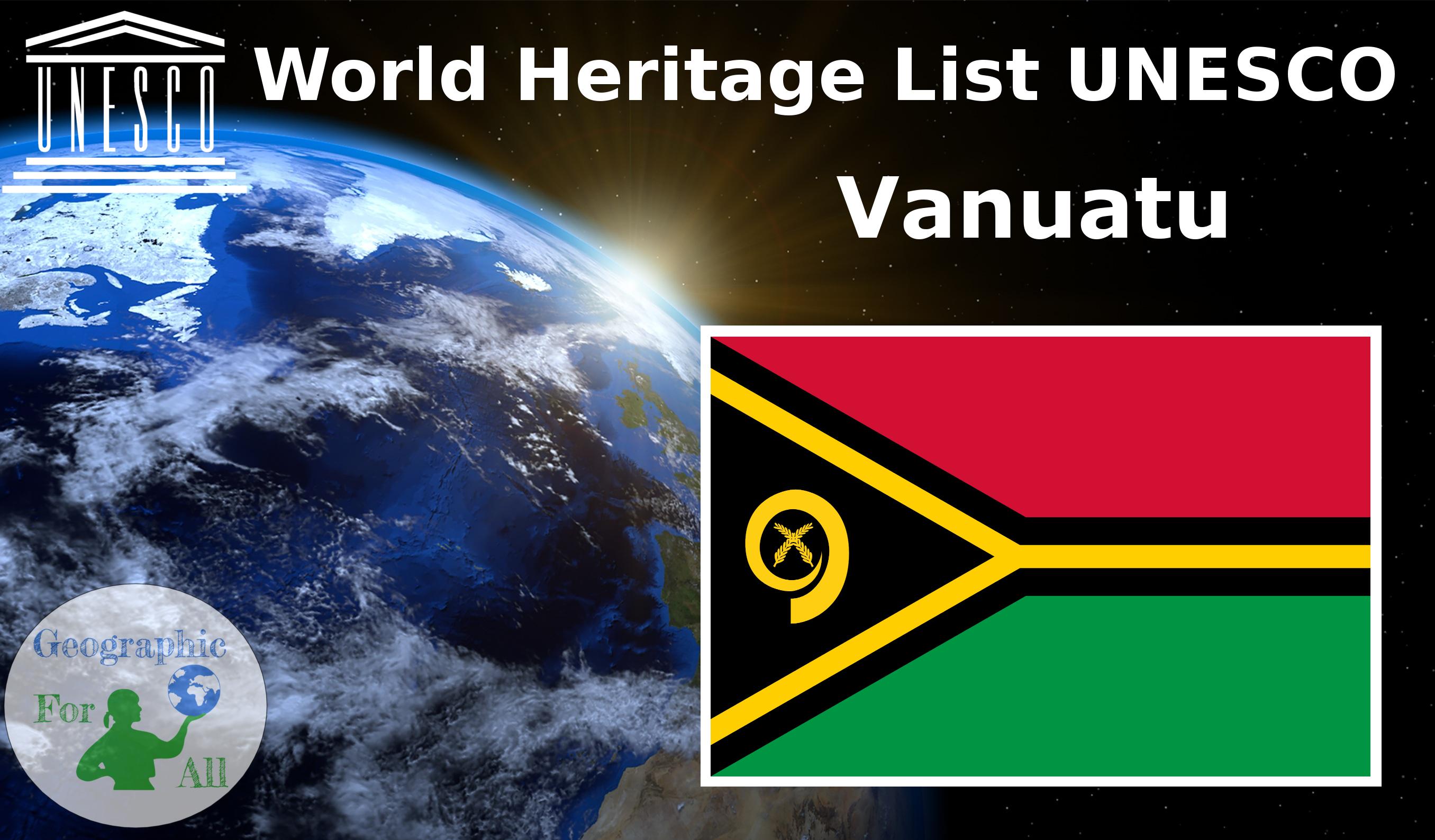 World Heritage List UNESCO - Vanuatu