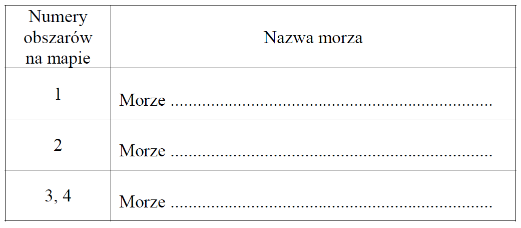 stara matura zgeografii 2016 pp zadanie 15 tabelka
