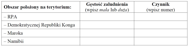 matura zgeografii 2013 pp zadanie 24 tabelka